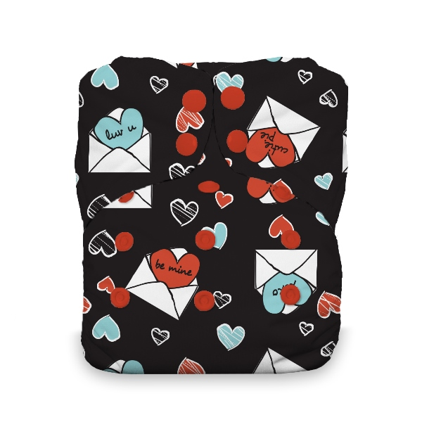 Thirsties One Size All in One Cloth Diaper - Snap -  love notes