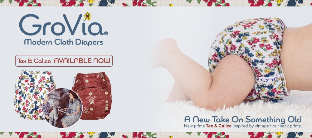grovia cloth diapers - tex and calico
