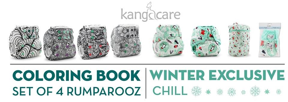 kangacare rumparooz cloth diapers - winter chill