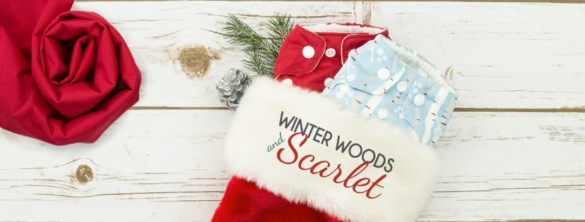 thirsties cloth diapers - winter woods and scarlet