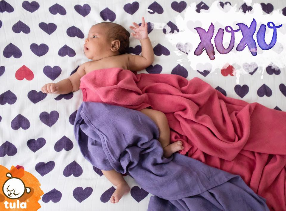 tula baby blanket Love Violette