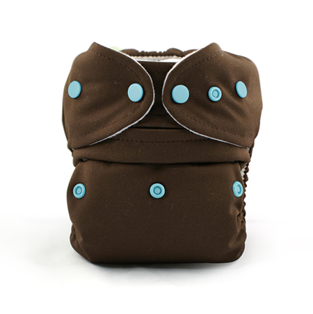Baby Kangas One Size Cloth Diaper- chocolate brown