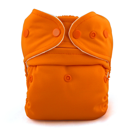 Baby Kangas One Size Cloth Diaper - orange pumpkin
