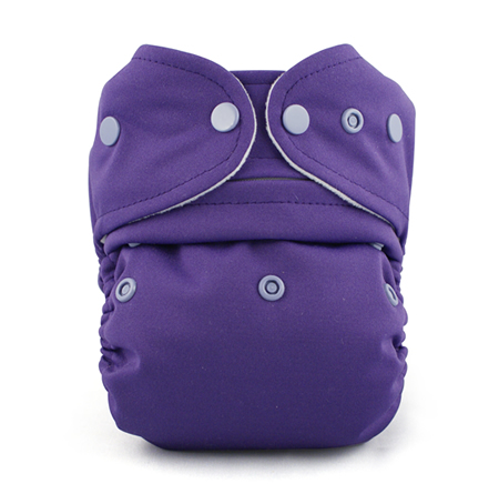 Baby Kangas One Size Cloth Diaper - royal purple