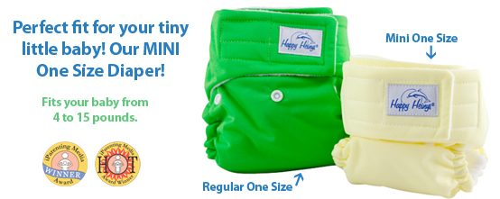 Happy Heinys mini one size vs regular one size cloth diaper