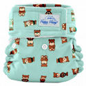 happy heinys organic one size pocket diaper - peace bears