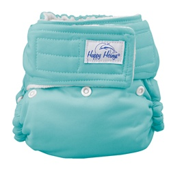 happy heinys organic one size pocket diaper - turquoise