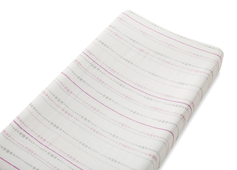 Aden and Anais bamboo changing pad cover - tranquility beads