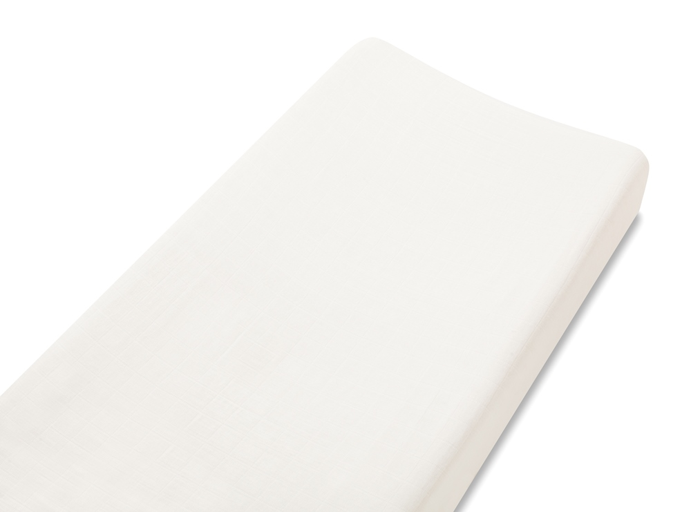 Aden and Anais bamboo changing pad cover - earthly white