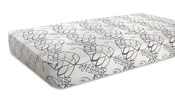 Aden and Anais Classic Crib Sheet - moonlight- leafy