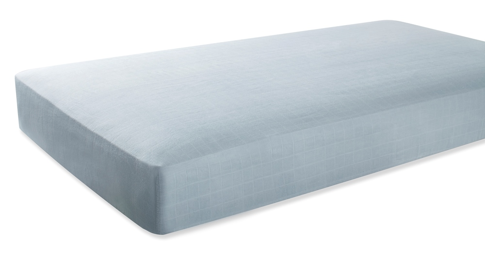 Aden and Anais Classic Crib Sheet - moonlight- solid grey