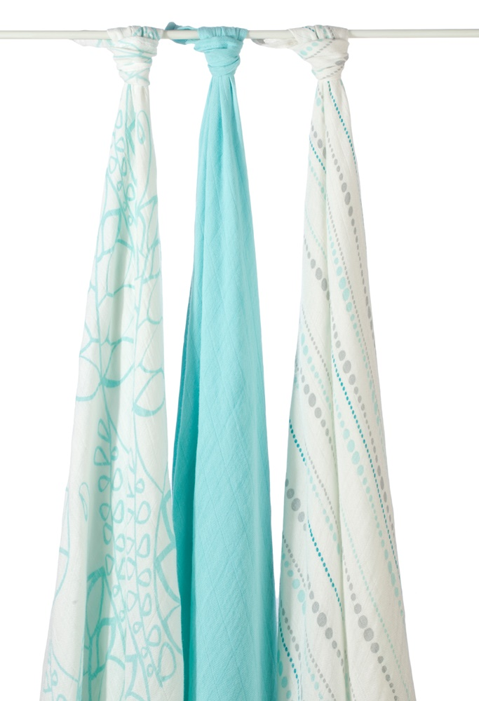 aden and anais bamboo swaddle blanket - azure