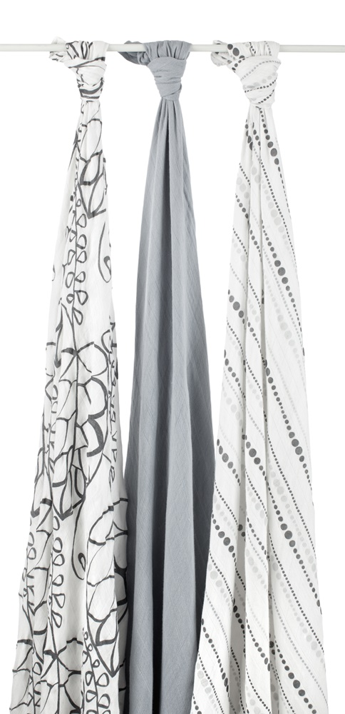 aden and anais bamboo swaddle blanket - moonlight