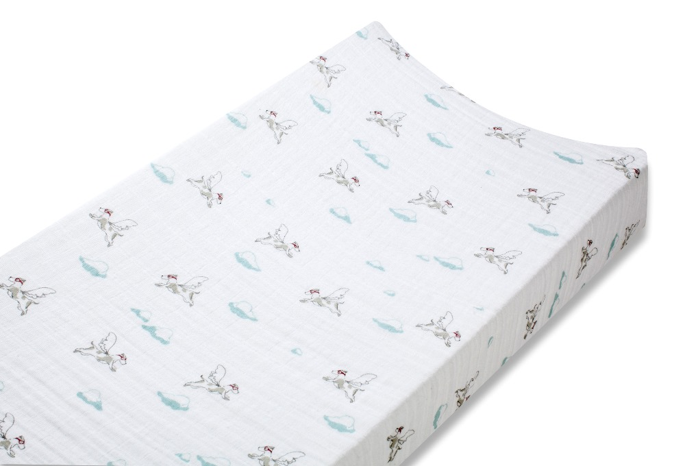 Aden and Anais classic changing pad cover -  liam the brave dogs
