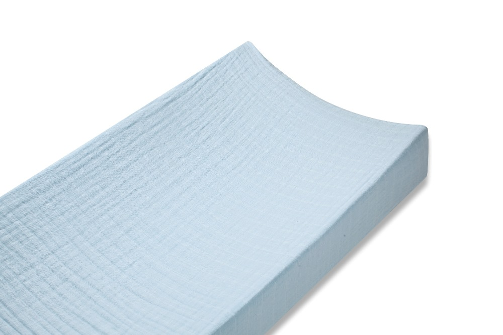 Aden and Anais classic changing pad cover - liam the brave solid blue