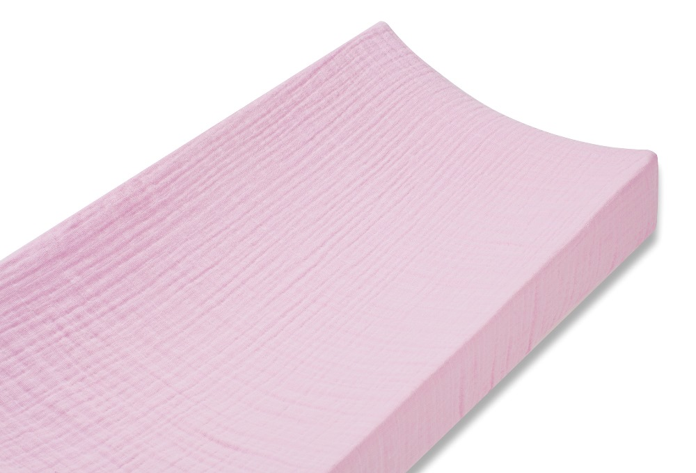 Aden and Anais classic changing pad cover - for the birds solid pink