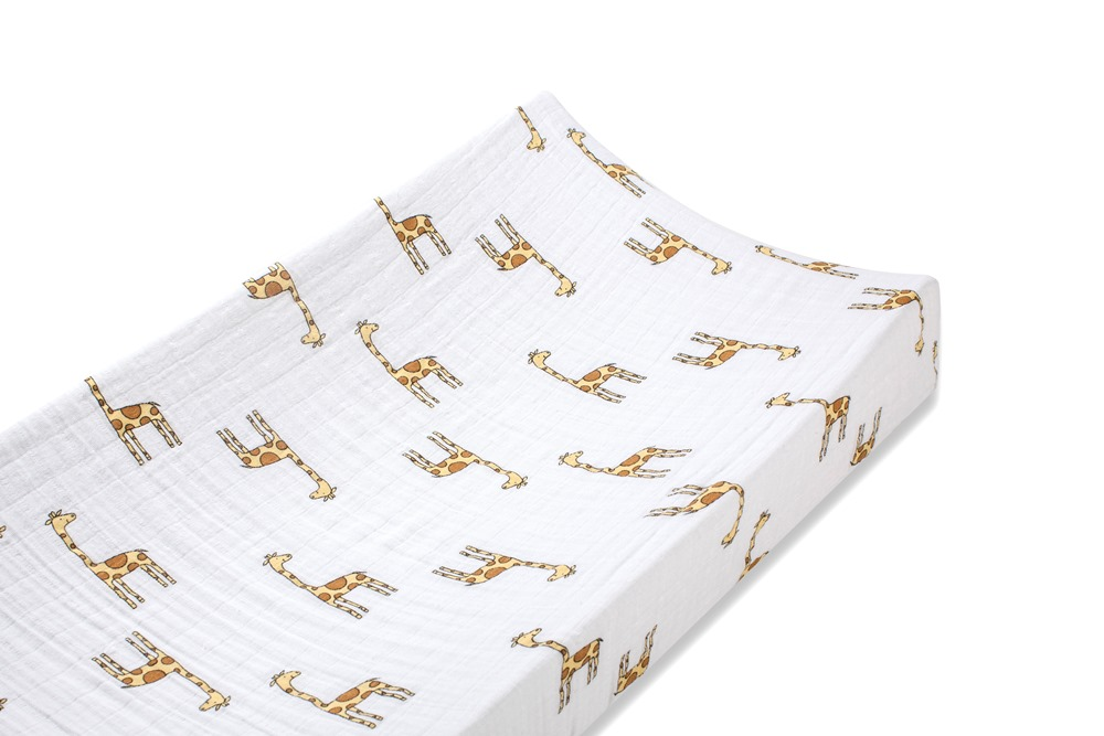 Aden and Anais classic changing pad cover - jungle jam giraffe