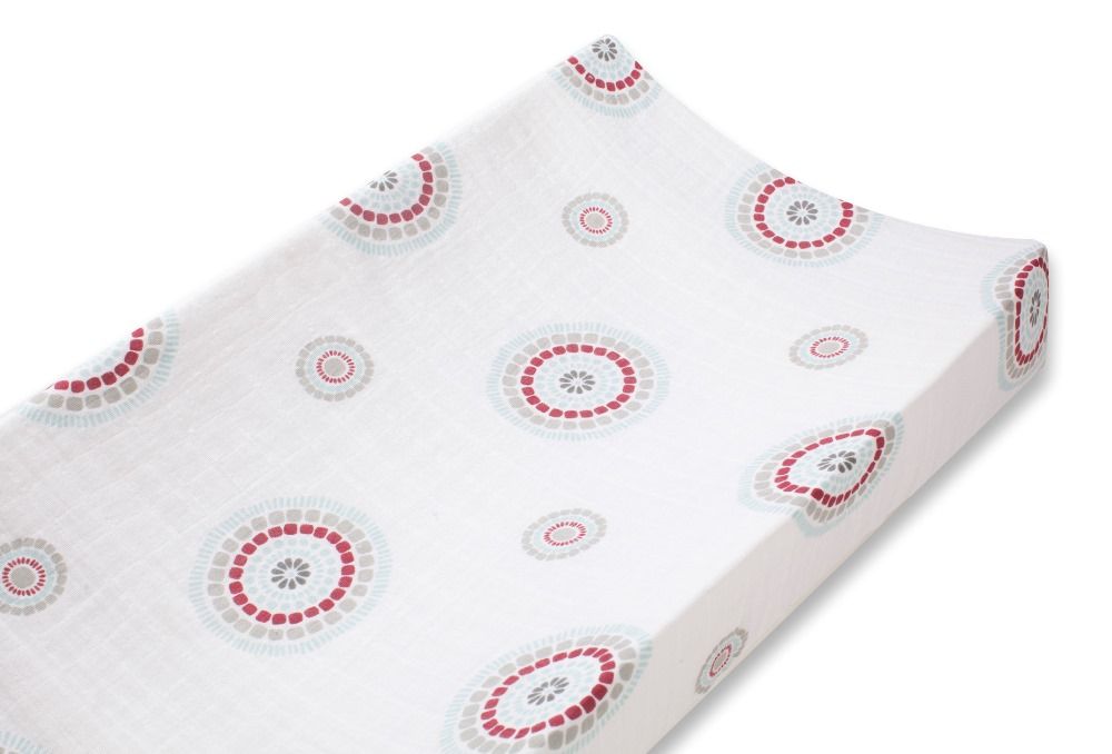 Aden and Anais classic changing pad cover - liam the brave medallions