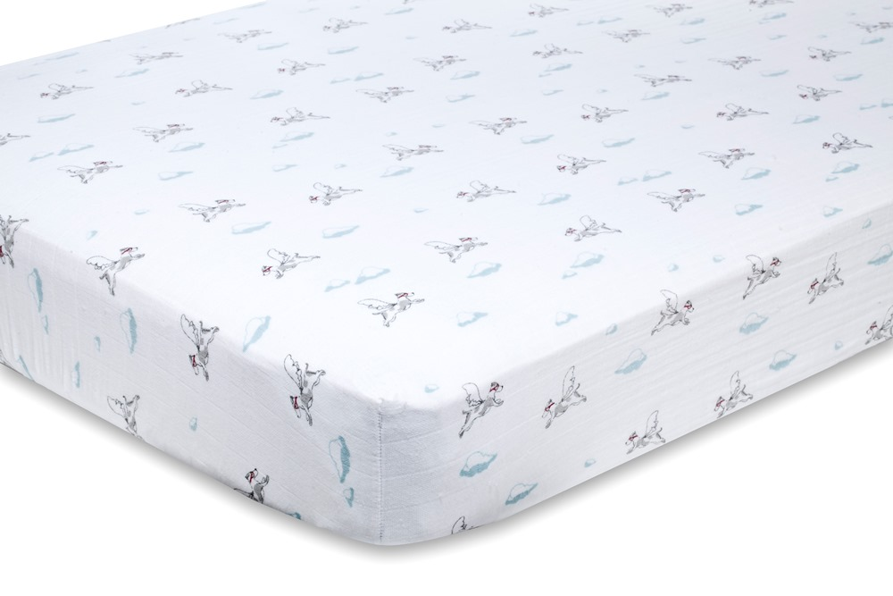 Aden and Anais Classic Crib Sheet - liam the brave dogs