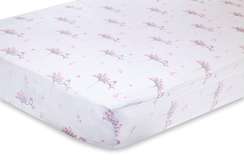 Aden and Anais Classic Crib Sheet - for the birds owls