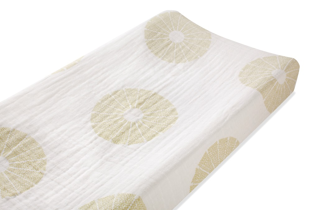 Aden and Anais organic changing pad cover - oasis