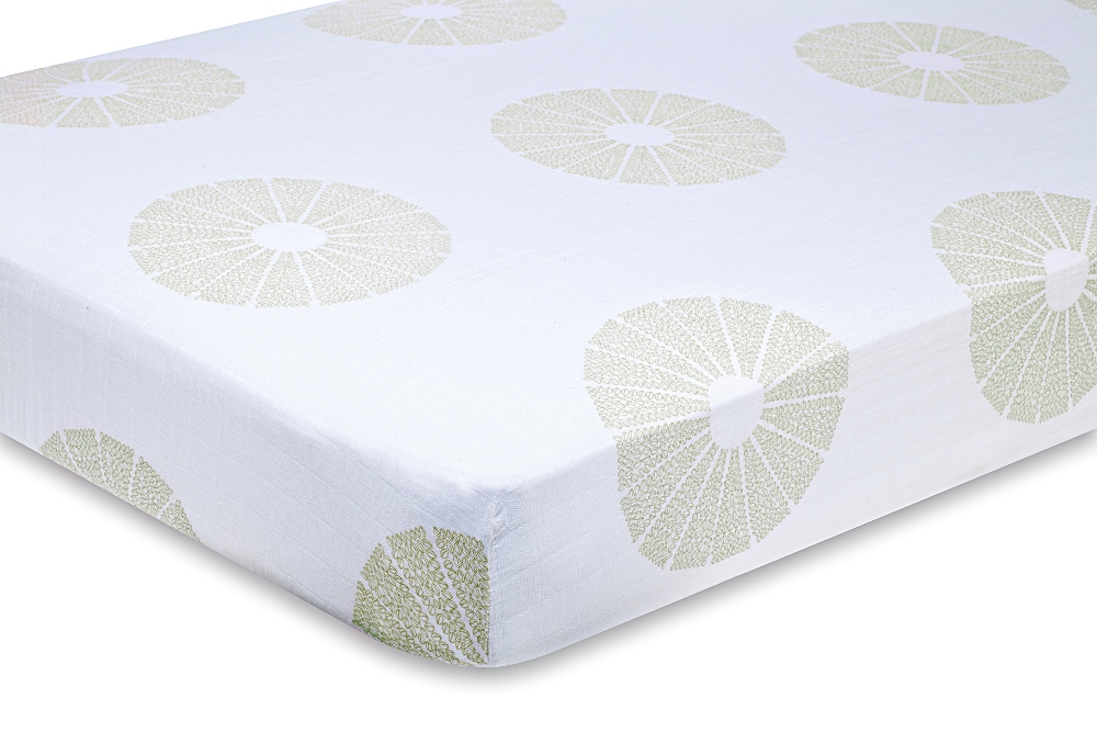Aden and Anais organic Crib Sheet - oasis