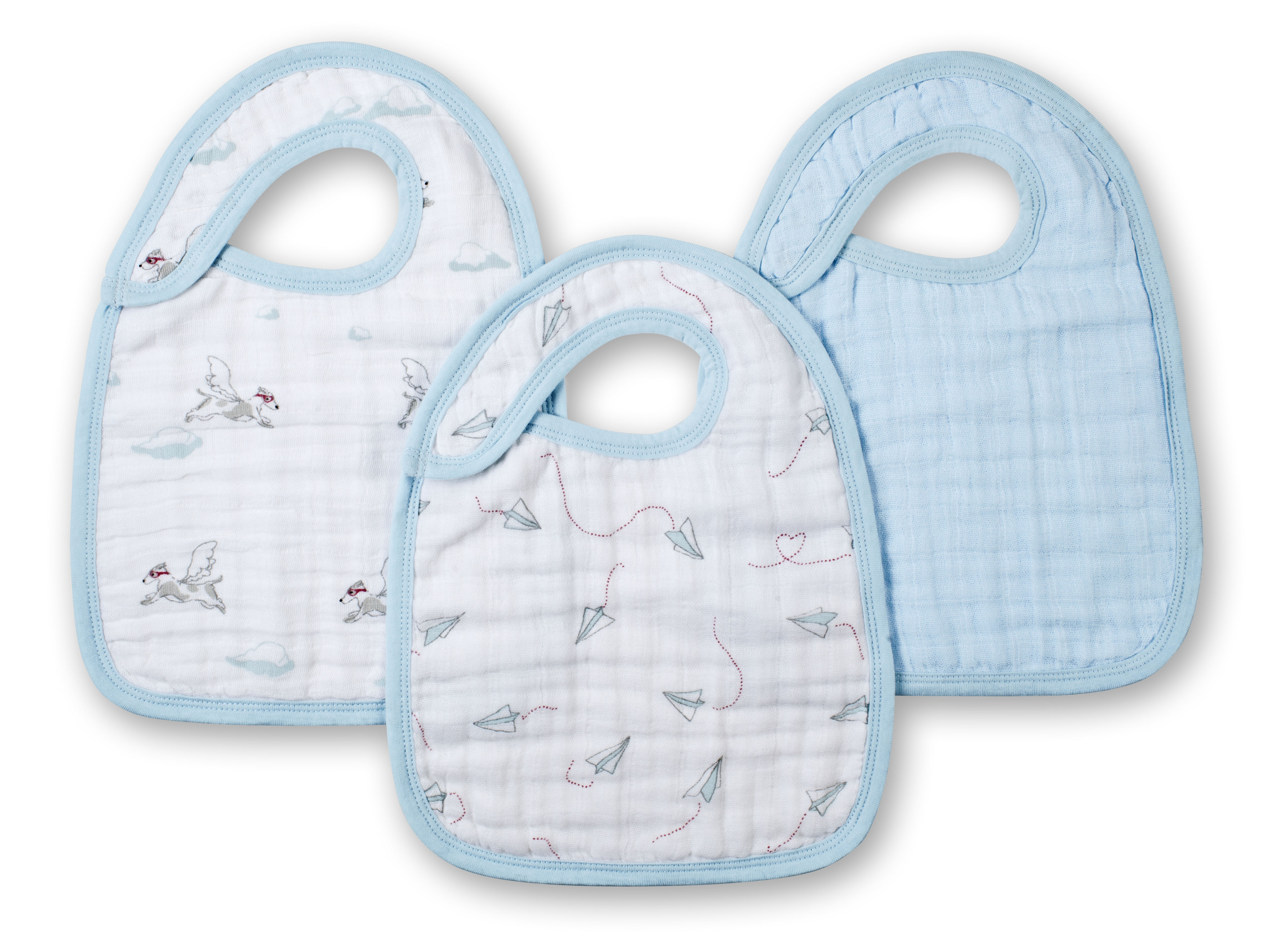 aden and anais snap bibs - liam the brave