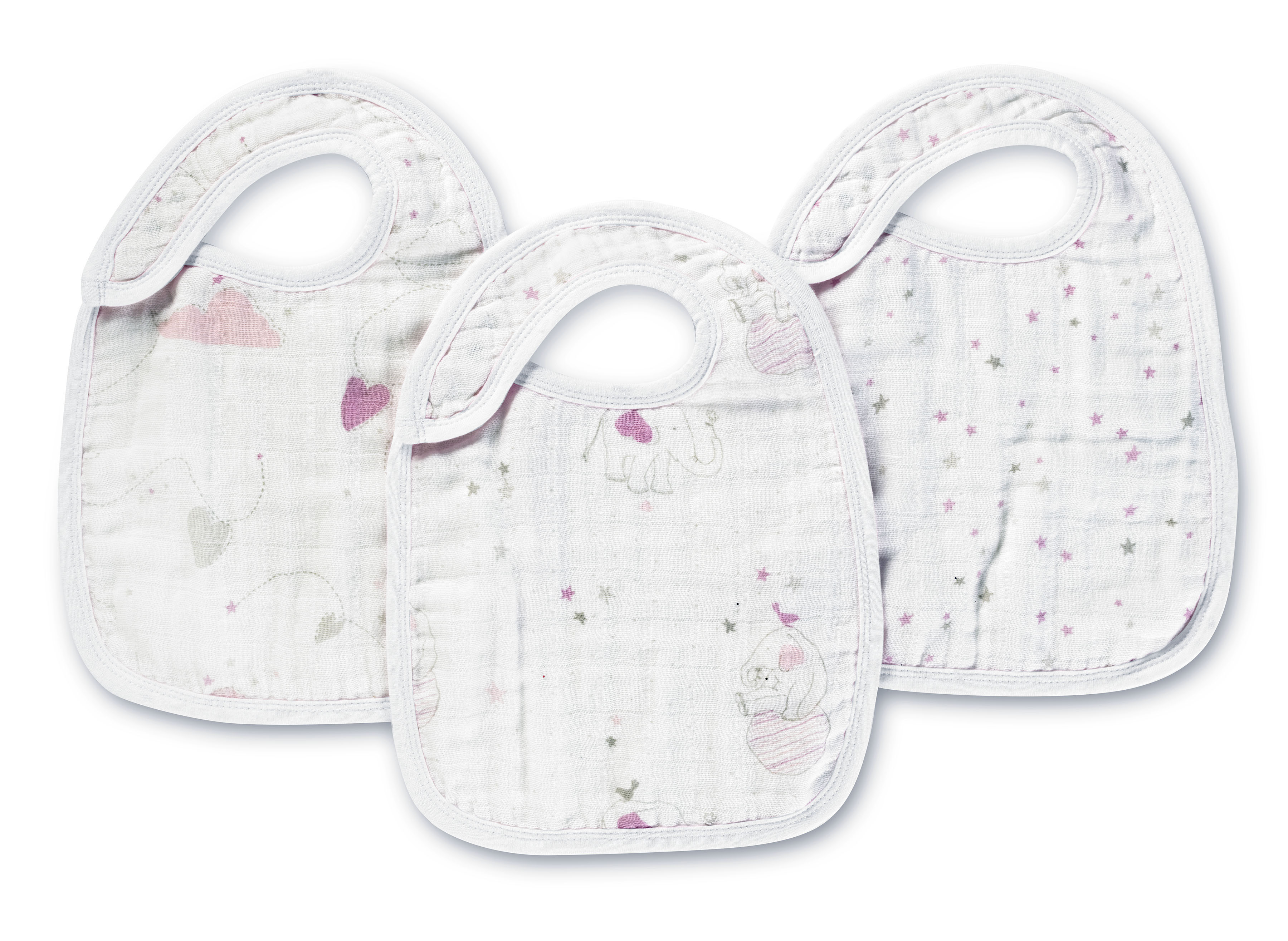 aden and anais snap bibs - lovely