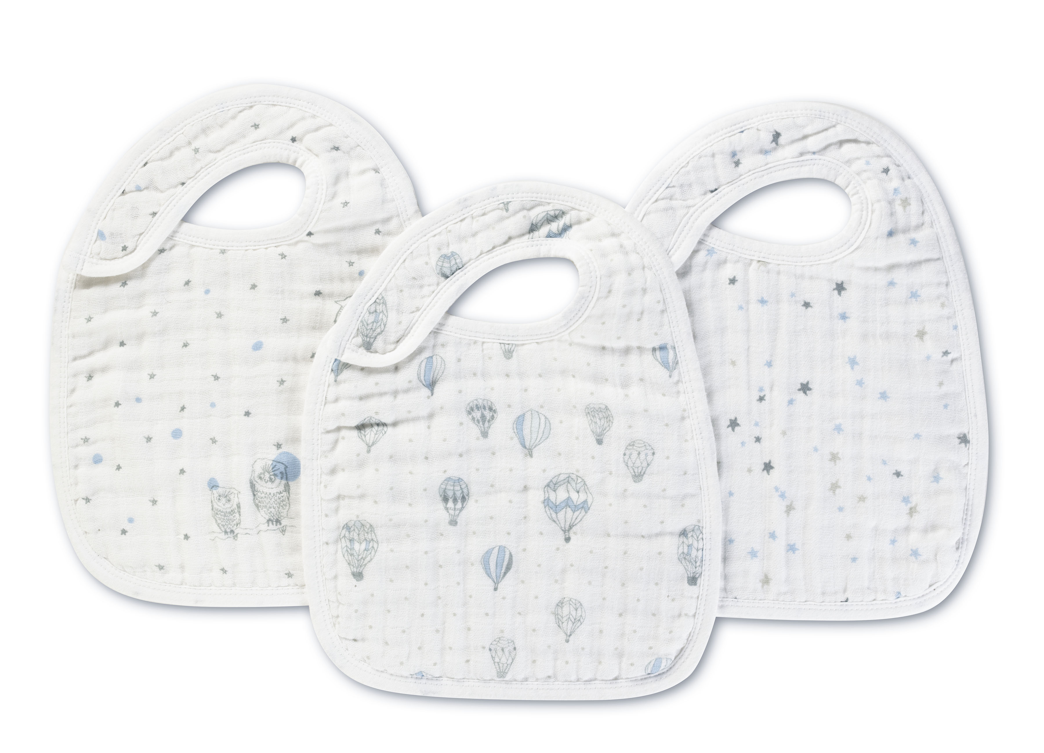 aden and anais snap bibs - night sky