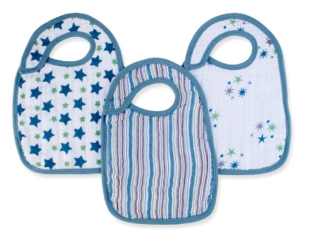 aden and anais snap bibs - prince
