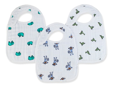 aden and anais snap bibs - jungle