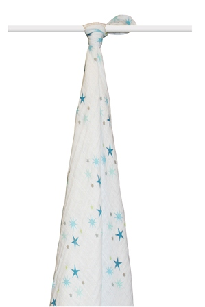 aden and anais organic swaddle blanket - star struck