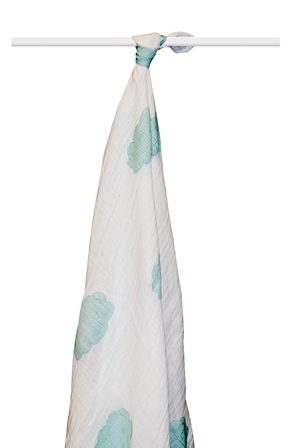 aden and anais organic swaddle blanket - sky blue