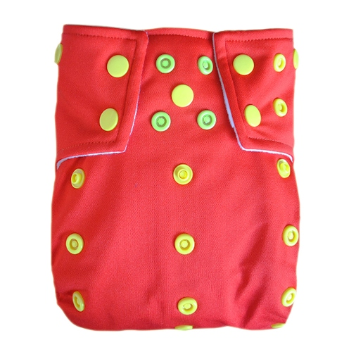 alvababy one size cloth diaper - red
