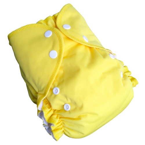 amp cloth diaper - LEMON