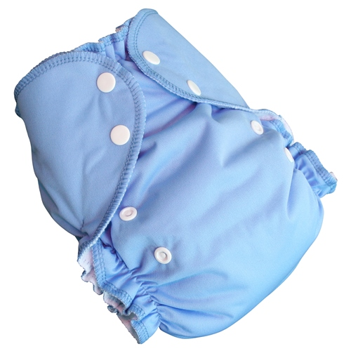 amp cloth diaper - MEDIUM blue