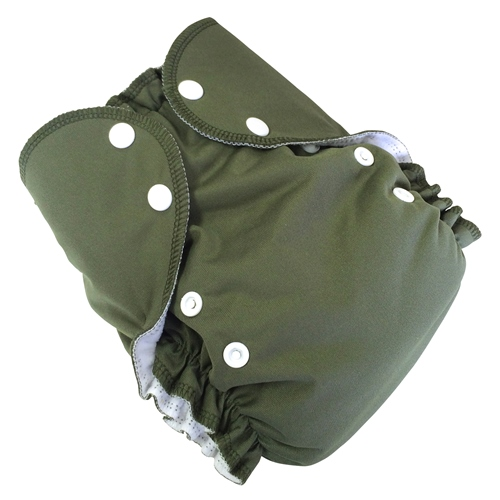 amp cloth diaper - OLIVE