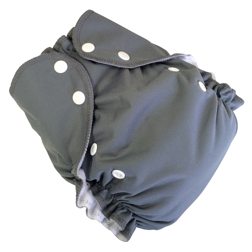 amp cloth diaper - PEBBLE