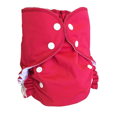 amp cloth diaper - POMEGRANATE