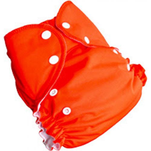 amp cloth diaper - tangerine