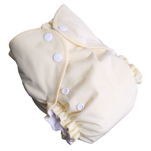 amp cloth diaper - banana cream pie