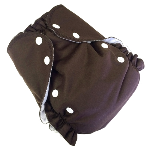 amp cloth diaper - chocolate