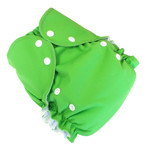 amp cloth diaper - froggy green