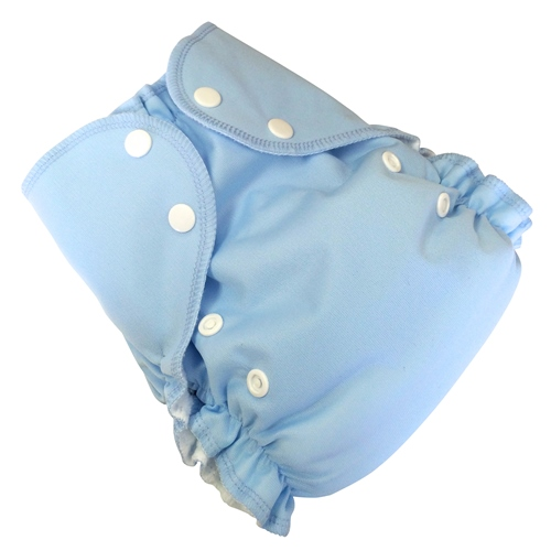 amp cloth diaper - light blue