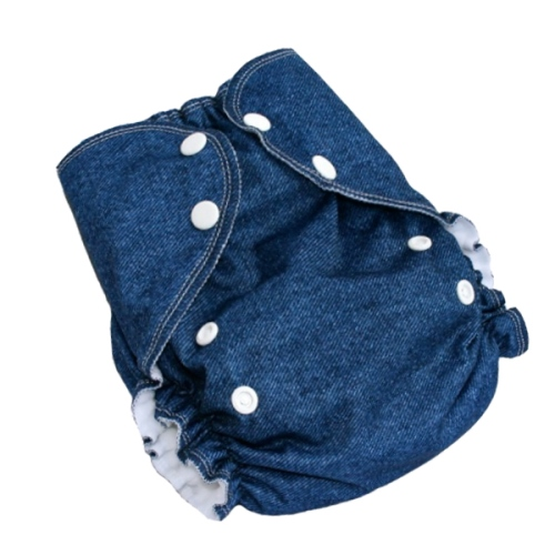 amp cloth diaper - blue jean baby