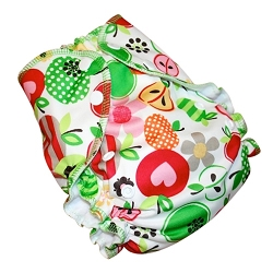 amp cloth diaper - SWEET APPLES