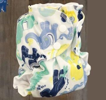 applecheeks envelop cloth diaper cover - irrelephant