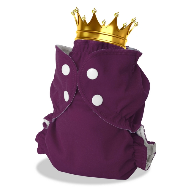 applecheeks envelop cloth diaper cover - suddenly royal