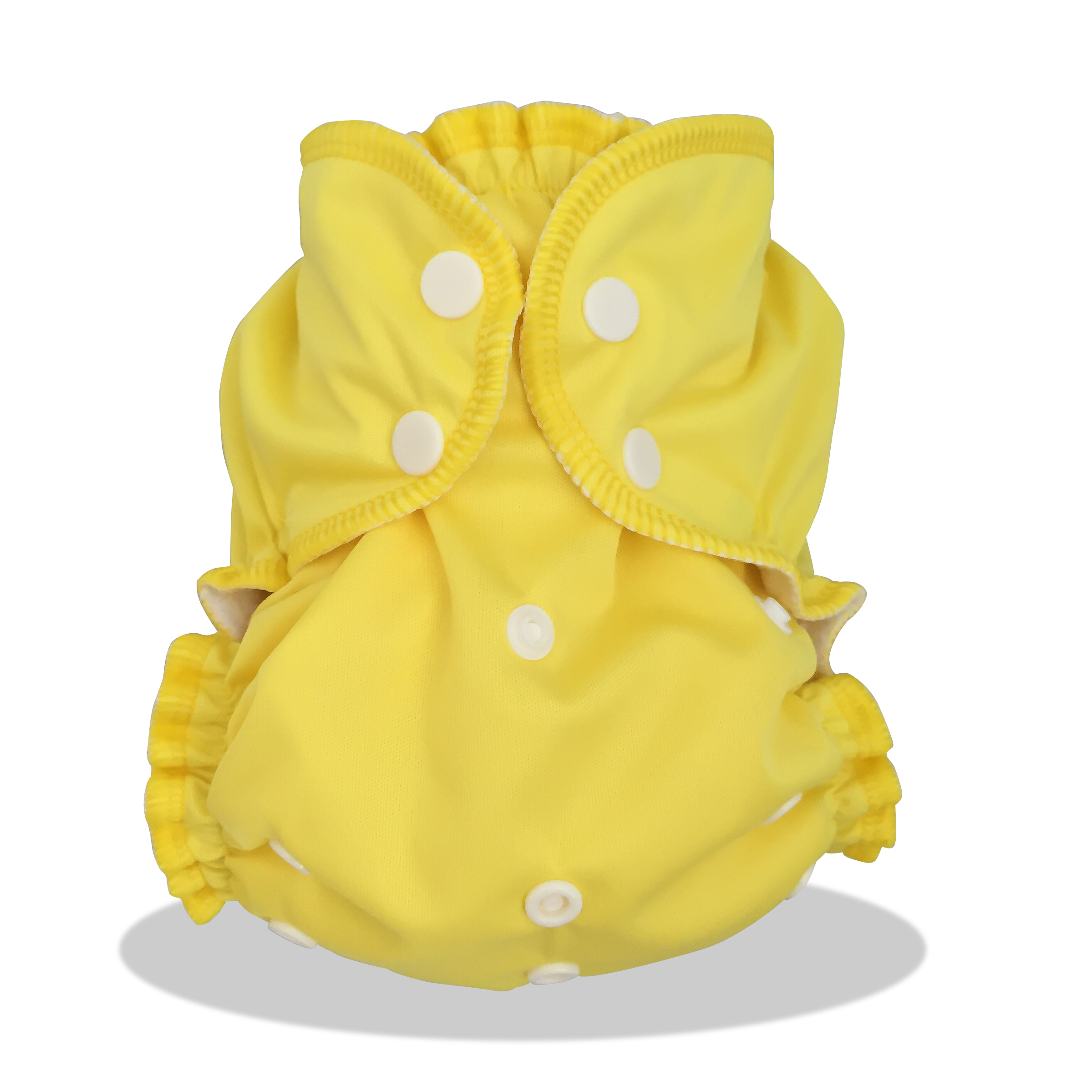 applecheeks one size cloth diaper cover - LEMON