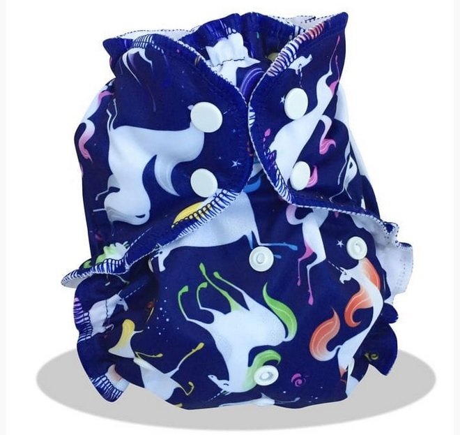 applecheeks one size cloth diaper cover - UNICORNUCOPIA